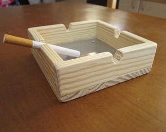 Wooden Ashtray with Inox bottom