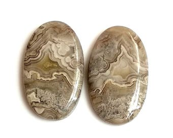 Crazy Lace Agate Oval Pair Cabochon,Size- 26x16 MM, Natural Crazy Lace Agate , AAA,Quality  Loose Gemstone, Smooth Cabochons.