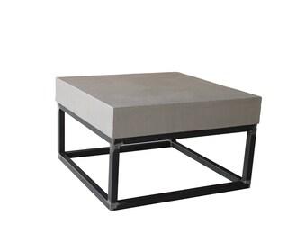 Concrete Couchtisch steel Frame