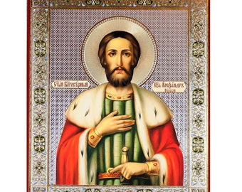 Saint Alexander Nevskiy russian icon orthodox christianity church icon