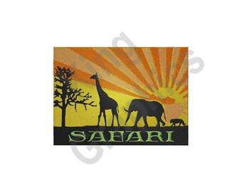 African Safari Animals - Machine Embroidery Design