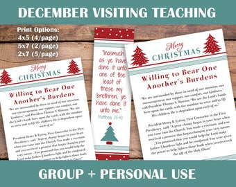 December 2017 Visiting Teaching kit | Relief society Message Digital Printable LDS VT