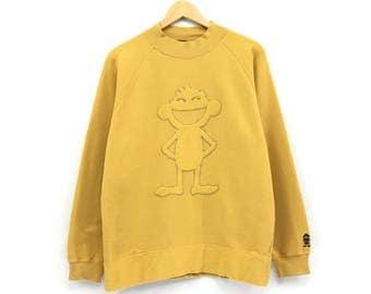 Rare!!Harlem store Sweatshirt Biglogo Pullover Jumper Embroidery HipHop