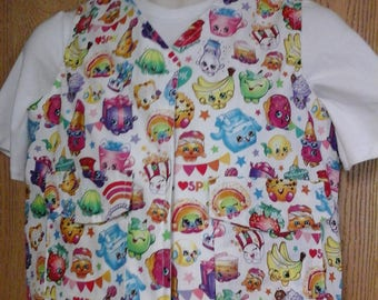 CLEARANCE! Size XS Weighted Vest for Child w/Special Needs and Sensory Issues. Shopkins Print