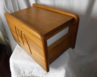 70s  Vintage MCDONALDS Advertising - Napkin DiSPENSER HoLDER, SLIDES OuT To  RELOAD Wood Wooden
