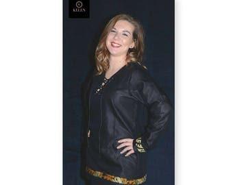 Black Batik fabrics African, cotton top