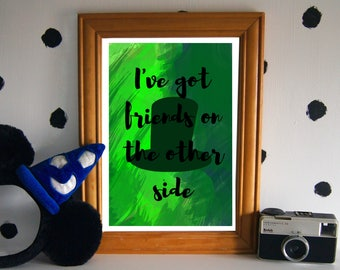 Dr Facilier Art Print - I've Got Friends On The Other Side - Disney Quote Print - Princess and the Frog Print