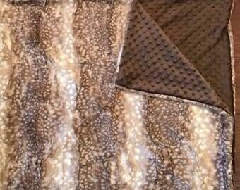 Axis Deer Minky Baby Blanket