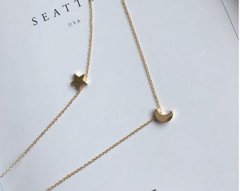 Thank the stars and moon necklace