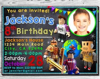 Roblox Invitation, Roblox Invite, Roblox Birthday Party, Roblox Birthday Invite, Roblox Party, Roblox , Roblox Invitation, Roblox Printable