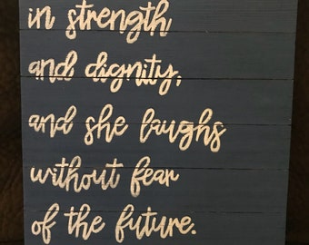Proverbs 31:25 Sign