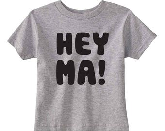 Hey Ma Toddler T-shirt (Heather)