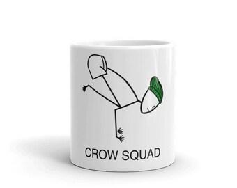 Crow Squad Yoga Pose Mug - ATOU Collection - Made in the USA