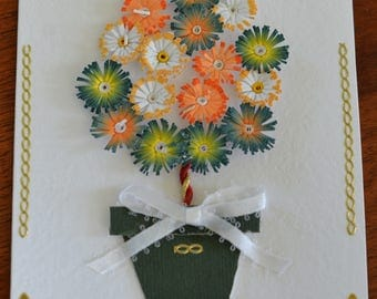 Topiary tree handmade quilled greeting card