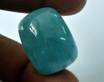 Natural Loose Gemstones Santa Maria Aquamarine Cabochon Cushion Shape  49  Carat  Size 25 x 20 x 10 mm