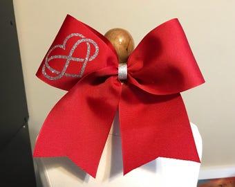 Infinity heart cheer bow