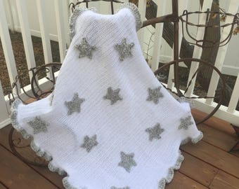 Puffy Star Baby Blanket (Pattern Only)