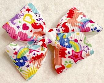 Girly Made Unicorn Hair Bow
