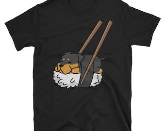 Funny Sushi Rottweiler T-Shirt, Cute Rottweiler Gifts, Rottweiler Dog Shirt
