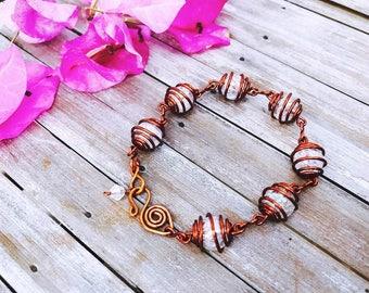 Statement wire bracelet, Wire wrapped bracelets, Wire bracelet, Copper wire bracelet, Bohemian bracelet, Wire wrapped
