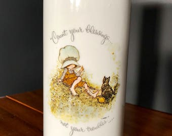 "Holly Hobbie ""Count Your Blessings"" Wall Vase"