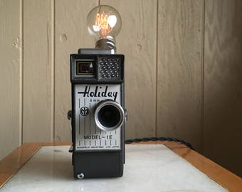 Holiday 8mm Camera Lamp with Edison Bulb