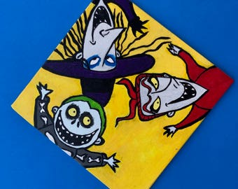 lock shock and barrel - the nightmare before christmas acrylic painting