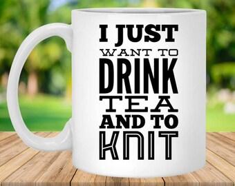 Knitting Mug, Gifts for Knitters, Knitting Gift Ideas, Unique Gifts for Knitters, Best Gifts for Knitters, Funny Knitting Mug, Yarn Mug