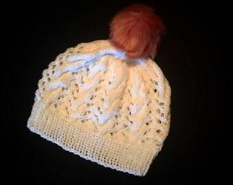 Child's Lacey bobble hat