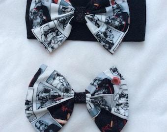 Star Wars Bows, Star Wars Headbands, Star Wars Hair Bows, Baby Girl Bows, Baby Girl Headband, Baby, Girl