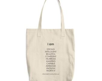 I AM Cotton Tote Bag