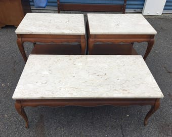 French Provincial Coffee Table & End Tables