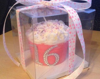 16th Birthday Homemade Candle (cool water scent)