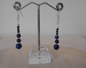 Silver Lapis Lazuli drop Earrings