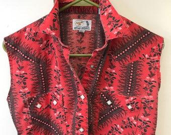 Women's Vintage Western-Wear Snap Button Shirt