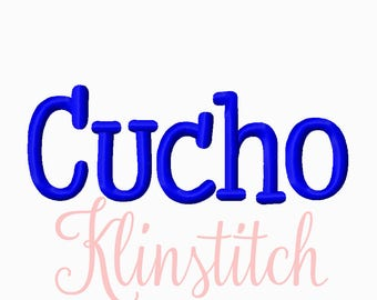 50% Sale!! Cucho Embroidery Fonts 6 Sizes Fonts BX Fonts Embroidery Designs PES Fonts Alphabets - Instant Download