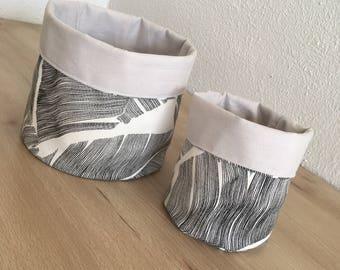 Set baskets fabric
