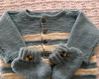 Knit layette set