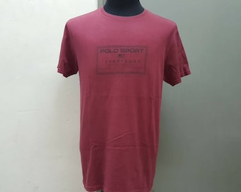 Sales Vintage 1990's Polo Sport Polo Sportsman Ralph Lauren Spell Out Tshirt