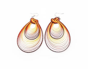 Handcrafted Earrings Bamboo Weave Fashion Hook Earrings ER-022