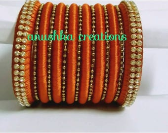 Orange bangle set