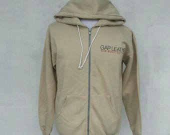 Vintage Hoodies Gap Leather The Boot Cup Jean Big Logo