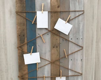Pallet Wood Hanging Picture Display