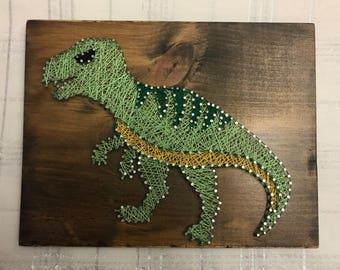T-Rex Dinosaur String Art