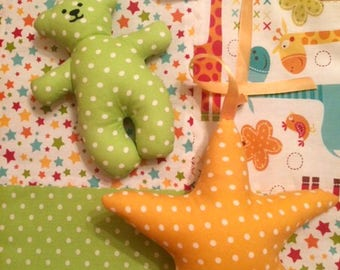 A pair of textile toys: an asterisk and a bear cub Пара  Игрушки текстильные звездочка и мишка