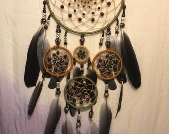 Five ring dream catcher