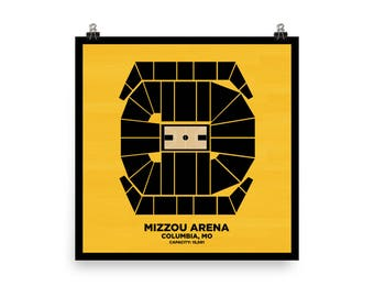 Mizzou Arena Wall Art - University of Missouri Tigers Basketball