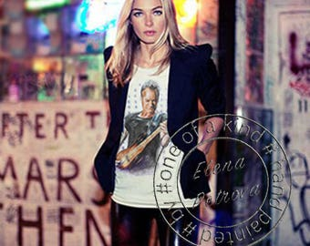 ONE of A KIND-Hand Painted T-shirt-Sting