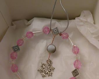 Winter Dawning Beaded Snowflake Ornament