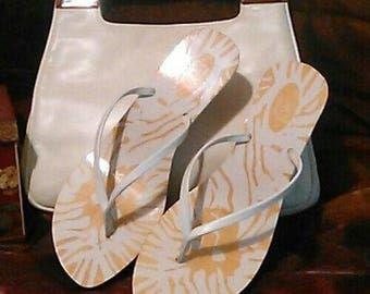 Vintage Anne Klein Purse and Sandals 8M